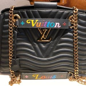 Louis Vuitton New Wave calfskin leather tote